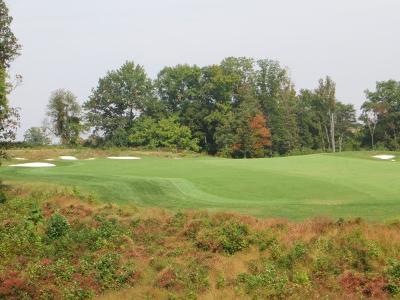 October fall colors are already adding flavor to the driving area on #9.