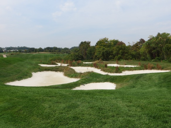 Just one nest of sand madness you must avoid in front of #5 green.