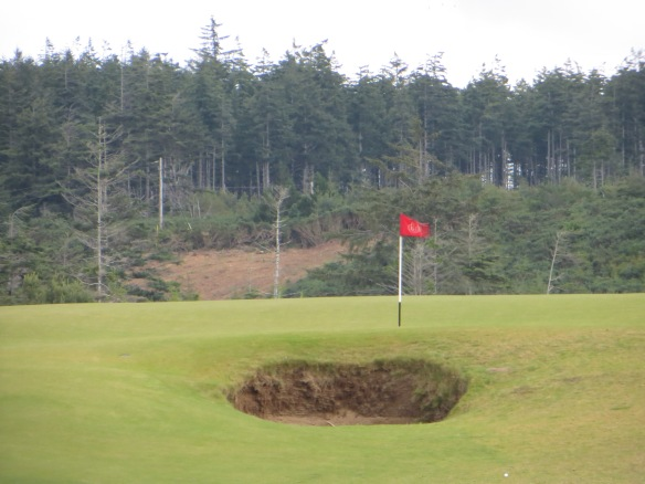 Your tee shot must circumvent the