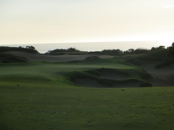 Sand is the major concern on the 11th-first of the seaside holes.
