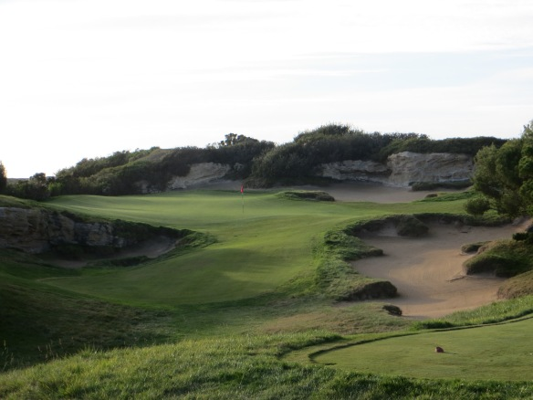 Elevation change is the least of your worries on the Par 3 12th.