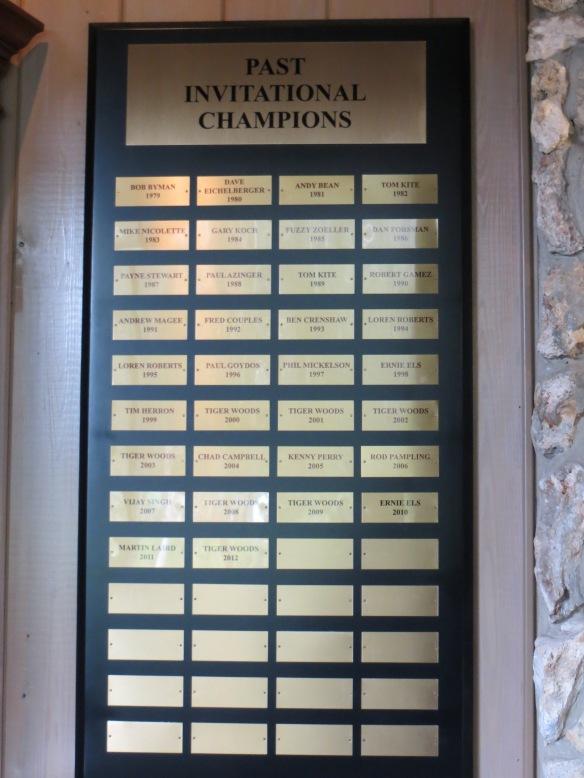 Past Champions Plaque