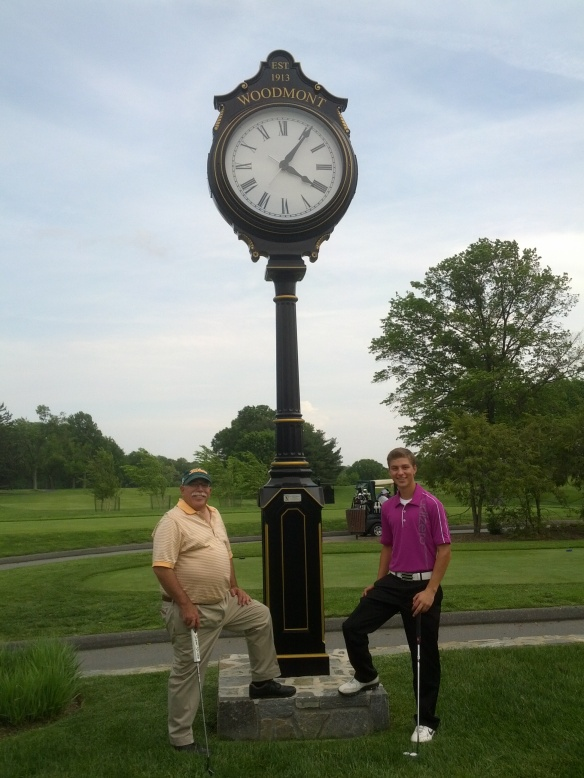 Tyler and Moe under the Woodmont Timex..rounds 34 and 35