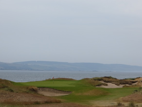 The looks do not get any better than this-the 12th green set against the Moray Firth.