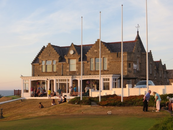 The clubhouse on the hill is a focal point from which you can see it all.