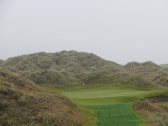 It is all about the dunes at the Par 3 6th.