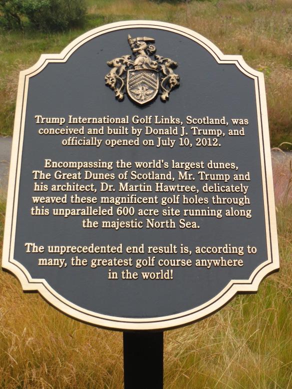 Trump Dedication Plaque