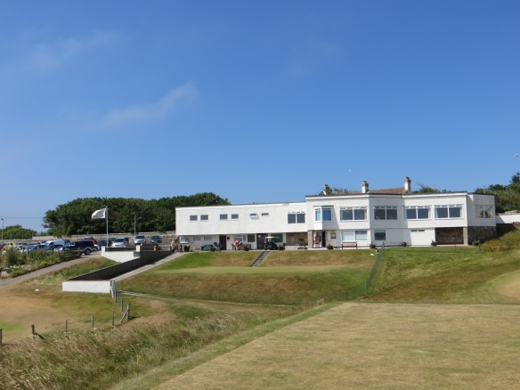 The clubhouse overlooks the links below.