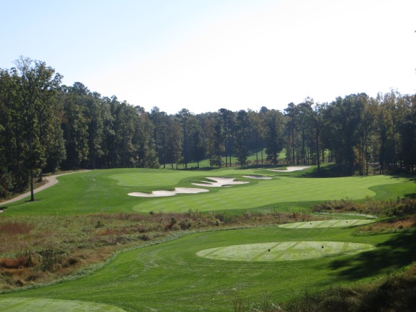 Taking in the challenge off the elevated tee on #2 will make you pause for consideration.