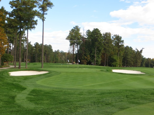 The practice facility replicates the short game permutations and combinations of the course.