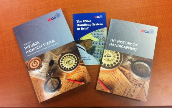 The required reading materials from a USGA Handicap Seminar