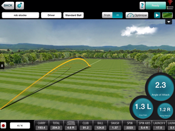 Ball flight shape and dispersion from the target line is great feedback for the student.