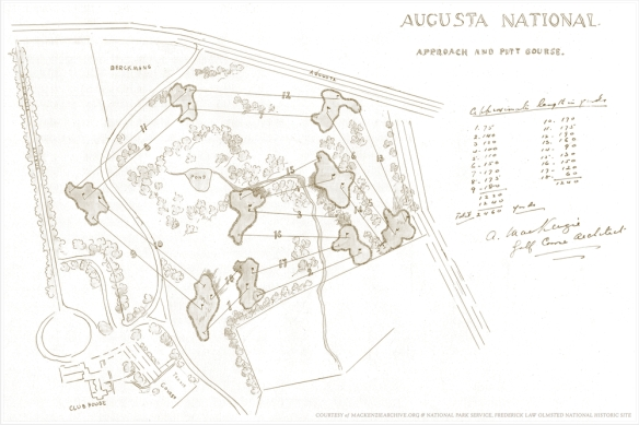 Proposed Augusta National Approach and Putt Course (courtesy of National Park Service)