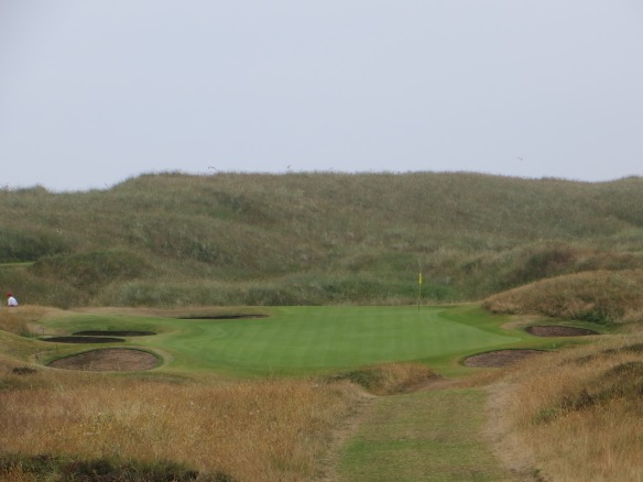 Sea is over the dune behind the Par 3 8th-just a postcard moment