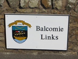 Balcomie Links Sign