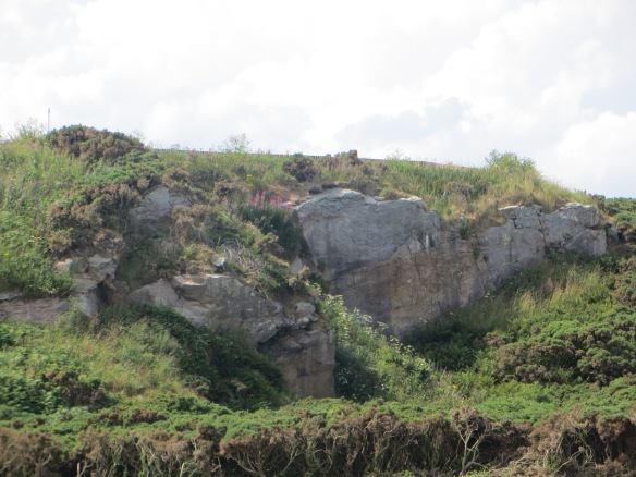 The ominous quarry wall makes it's presence known throughout your walk today