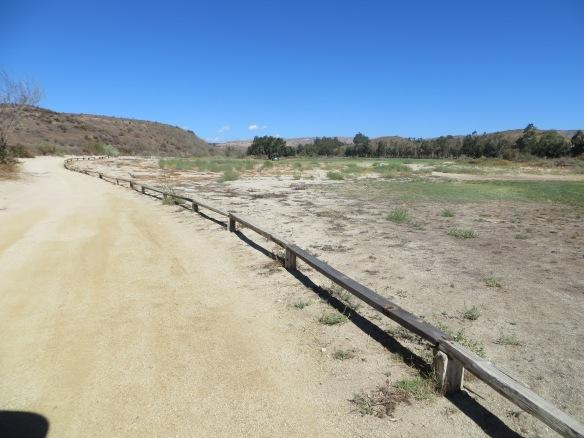 Sand Cart Path and Railing
