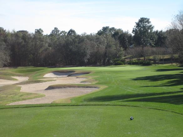 The Redan-esque 8th hole gives you a feel of the tactical detail on the front nine
