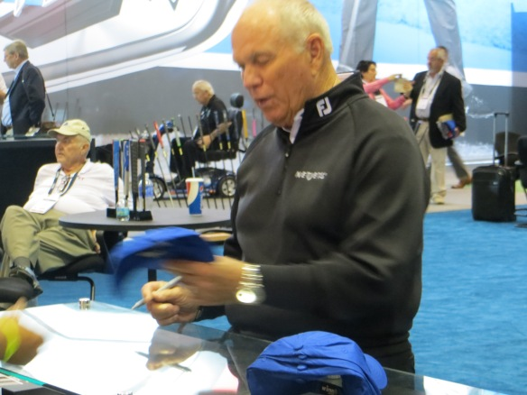 Butch Harmon...the grand master of instruction...signing lids.