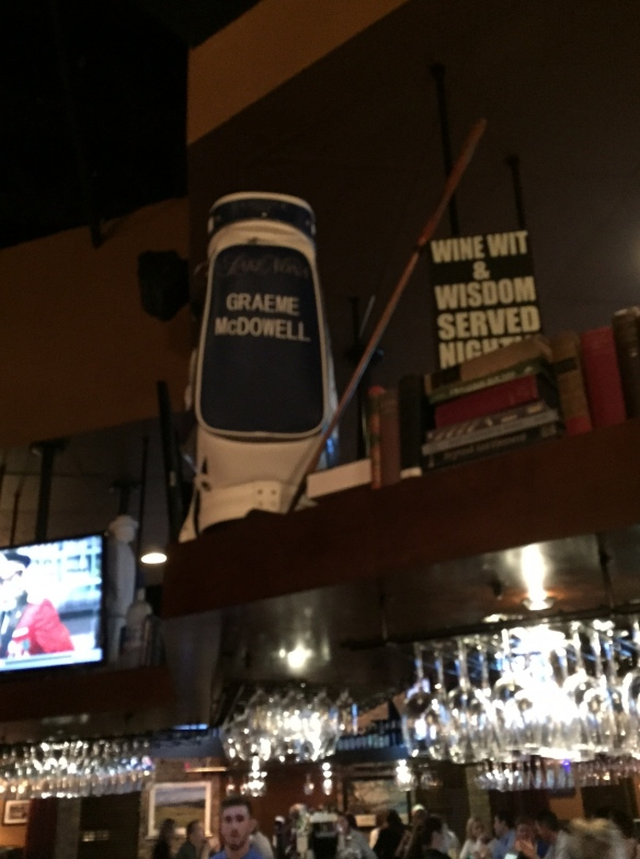The Graeme McDowell influence hovers above the bar.