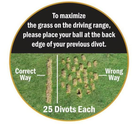 Proper Range Divots