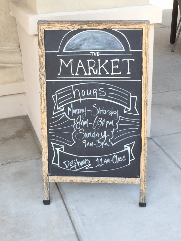Sea Island Market Sign
