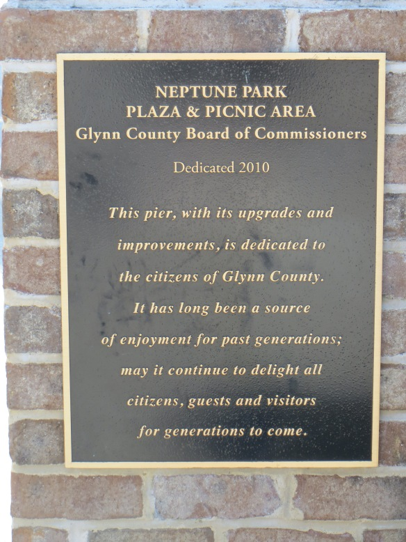 St Simons Park Sign