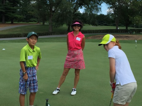 Harriet and Kids Putting