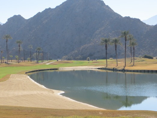 Big sand and water elements make the Par 5 7th a tactical chore
