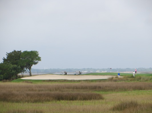 The marsh, sand, endless horizon on the scenic 4th