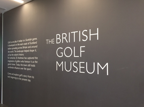 British Golf Museum Sign